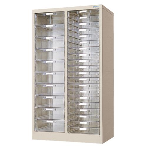 レターケース A4 浅型・深型 2列10段・20段 書類ケース ユニットケース 透明引き出し 引出し収納 オフィス収納 書類収納 事務所 会社 役所 PA4-302