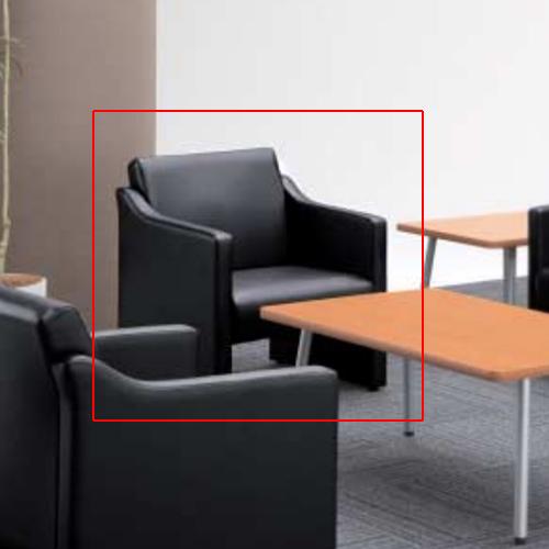 アームチェア ビニールレザー張り 応接用椅子 応接チェア 一人掛け 1人用ソファ ロビーチェア シンプル オフィス家具 社長室 商談室 RCT-1002VAC
