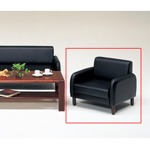 アームチェア ビニールレザー張り 椅子 1人用ソファ 一人掛け 応接室 来客室 社長室 オフィス家具 高級 モダン SUNNY-AC LOOKIT オフィス家具 インテリア