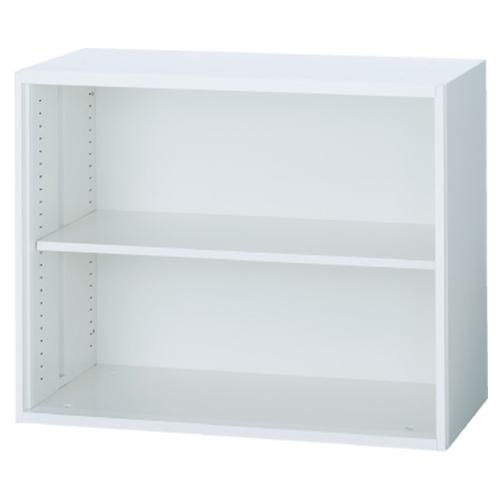 オープン書庫 ロータイプ コンパクト収納 収納棚 本棚 スチール書庫 スチール棚 ファイル収納 ユニットシステム ホワイト 会社 オフィス家具 TF-A-07-8040-OW