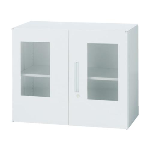 両開き書庫 窓付き ヒンジドア キャビネット 連結 ユニットシステム スチール棚 オフィス家具 ホワイト 鍵付き 本棚 収納棚 書類棚 会社 TF-BG-07-9045-OW