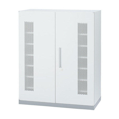 PC一括収納庫 コードホール付き キャビネット ユニットシステム ホワイト 会社 事務 パソコン収納 収納棚 スチール棚 収納庫 シンプル TF-PC-11-9045-OW