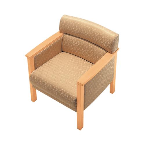 アームチェア ジャガード布張り 一人用チェア 応接チェア 応接 軽応接 応接家具 一人用 応接椅子 TSSF-559A-NB-AC LOOKIT オフィス家具 インテリア