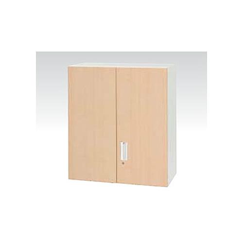 両開き書庫 高さ103cm 奥行45cm 上置き用 木目調 ナチュラル 木目塗装 書庫 キャビネット オフィス家具 鍵付き 収納棚 ユニットシステム V945-10MH ルキット オフィス家具 インテリア