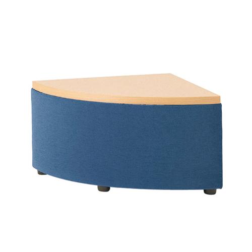 ロビーチェア テーブル付き コーナー用 アールコーナー テーブルトップソファ 天板付ソファ ロビーチェアー サイドテーブル WEAVE-TR1 ルキット オフィス家具 インテリア