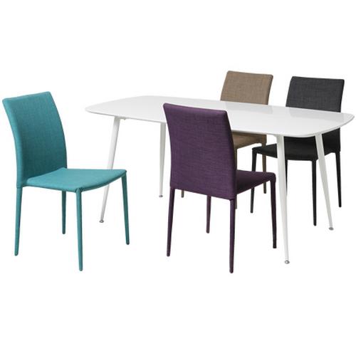 ダイニングセット 4人用 5点セット 食卓セット シンプル テーブルセット スチール脚 テラス レストラン カフェ TDT-5061S ルキット オフィス家具 インテリア