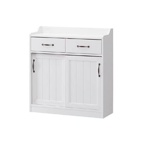 キッチンカウンター カウンター下収納 引き戸 キッチン収納 収納家具 ホワイト キャビネット おしゃれ 送料無料 RTA-9085SDH LOOKIT オフィス家具 インテリア