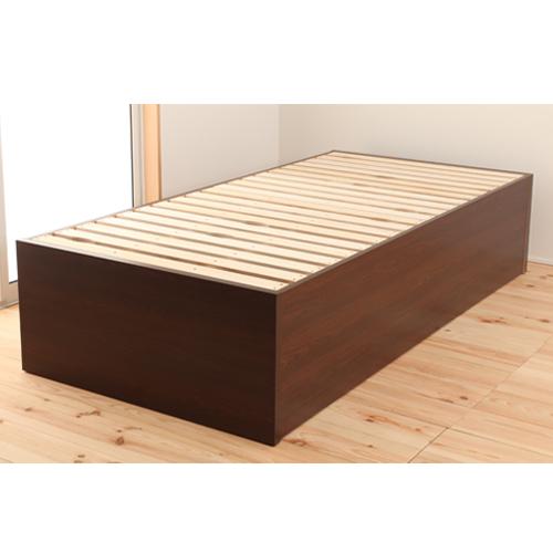 ★送料無料★ 布団が干せる桐すのこベッド セミダブル 収納庫付ベッド すのこ床ベッド M型 湿気対策 収納付き寝具 部屋干し 収納ベッド 桐材 HMB54-BR-SD LOOKIT オフィス家具 インテリア