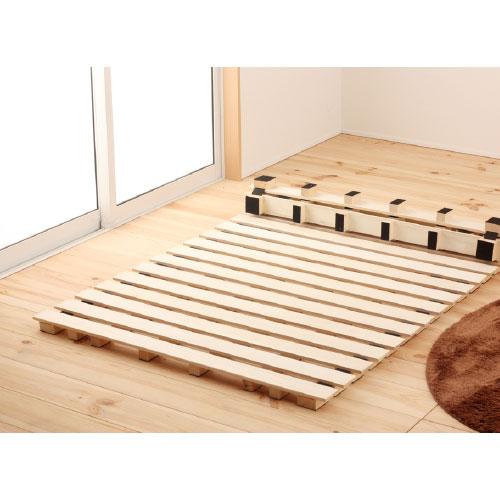 ★送料無料★ すのこベッド ロール式 ダブル 収納ベッド 丸めるベッド 木製寝具 すのこ式ベッド 桐 ロールすのこ 簡単収納 防湿 ハイタイプ ROLLSUNOKO-D