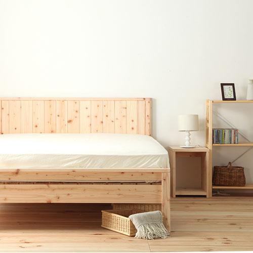 送料無料 すのこベッド シングル ヒノキ 日本製 すのこ式ベッド 桧のベッド 並べて ひのき 通気性 木製ベッド 曲面加工 高さ調節 国産ベッド TCB231-S ルキット オフィス家具 インテリア