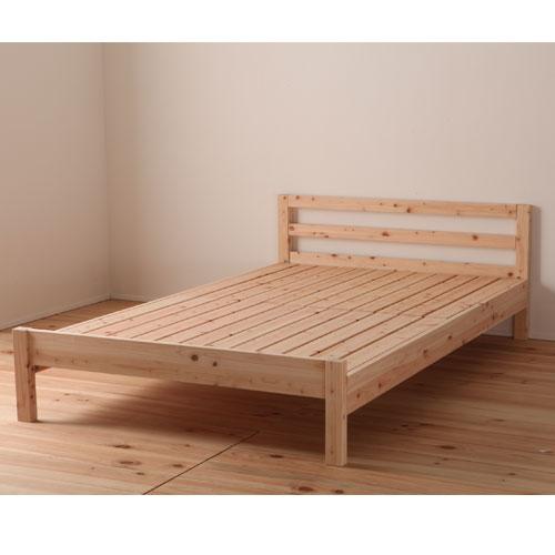 送料無料 すのこベッド ダブル ヒノキ ひのきベッド 桧すのこベッド すのこ床ベッド 国産フレーム 天然素材 通気性 木製ベッド 無塗装仕上げ TCB235-D