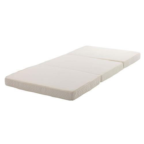 ポケットコイルマットレス シングル 三つ折り 高密度 折畳みマットレス ベッド用品 敷布団 コンパクト 来客用 XM14-S ルキット オフィス家具 インテリア