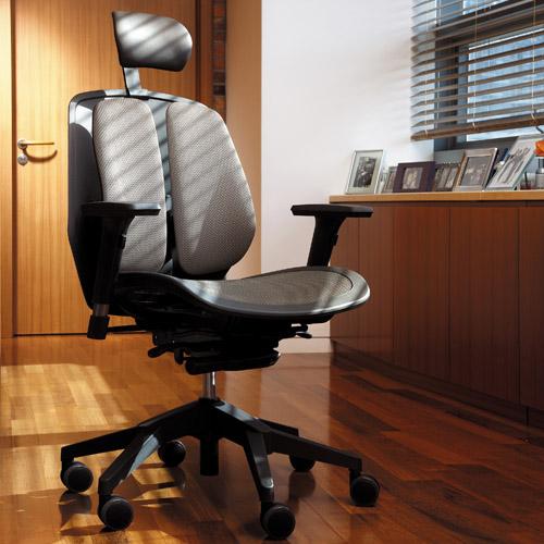 オフィスチェア デュオレスト DUOREST 腰痛 対策 リクライニング アームレスト ヘッドレスト ロッキング キャスター ガス圧昇降 チェア イス オフィス ALPHA80H