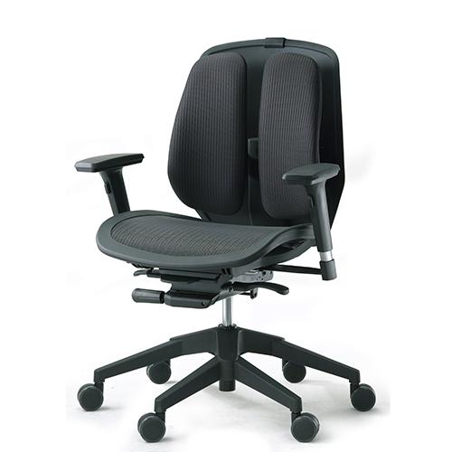 オフィスチェア デュオレスト 腰痛 対策 リクライニング アームレスト ロッキング 背もたれ 調節 ウレタンキャスター ガス圧昇降 チェア イス オフィス ALPHA80N