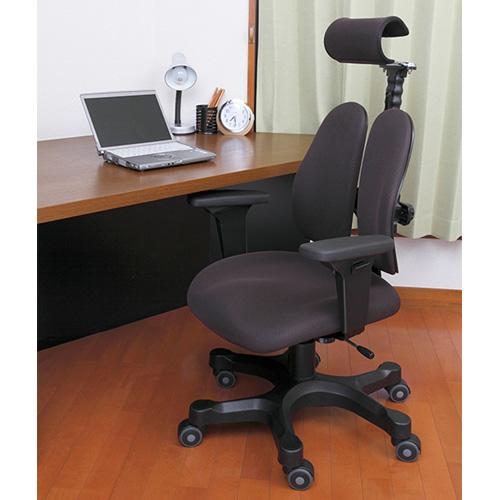 オフィスチェア デュオレスト 腰痛 対策 ヘッドレスト ロッキング アームレスト 背もたれ 調節 キャスター付き ガス圧昇降 チェア イス オフィス DR-7501SP