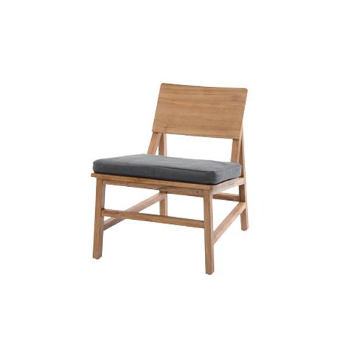ダイニングチェア いす イス 椅子 オシャレ 食卓椅子 ナチュラル 木製 リネン チーク ダイニングルーム リビングルーム ロータイプ リビングチェア C181XPM