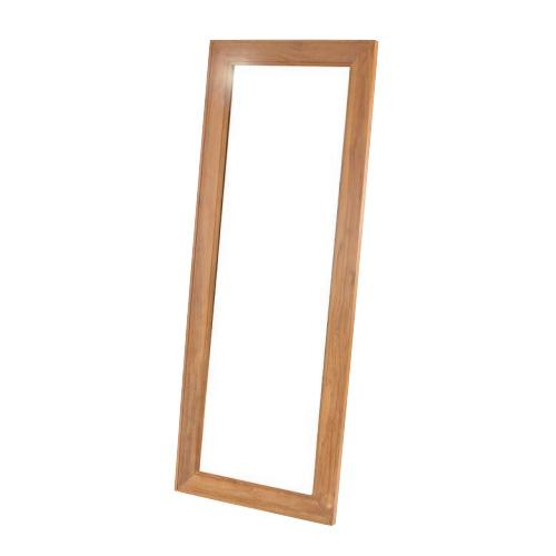 スタンドミラー 木製 姿見 鏡 全身用 立て掛け式 チーク 全身鏡 ウォールミラー 大型 チーク 無垢 玄関 インテリア おしゃれ 鏡台 かがみ カガミ お洒落 Q181XP