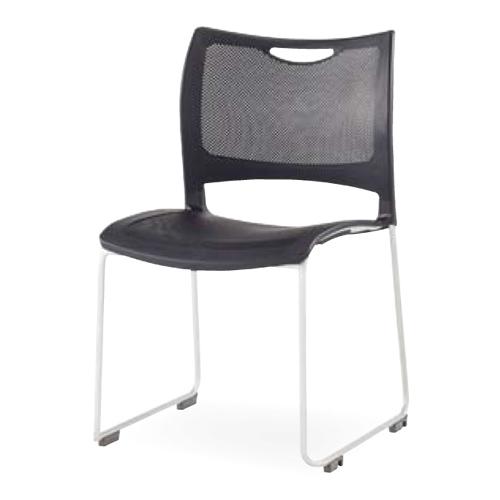 スタッキングチェア 4脚セット ミーティングチェア 会議イス 樹脂製 メッシュ 軽量 積み重ね オフィス 会議 講義 学校 授業 椅子 チェア 送料無料 CMC-MKT01S
