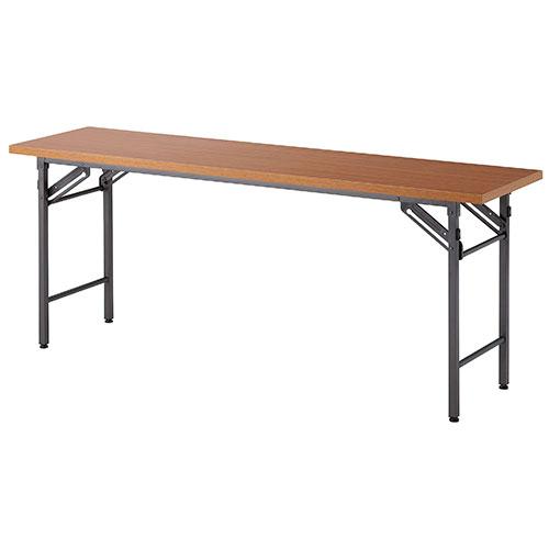 折りたたみ会議テーブル 折りたたみ式テーブル オフィステーブル 会議用テーブル 大人気 折りたたみテーブル 1800×450mm 棚なし 会議テーブル 作業テーブル 店 セミナー 業務用 ミーティングテーブル 折り畳みテーブル OT-1845 作業台