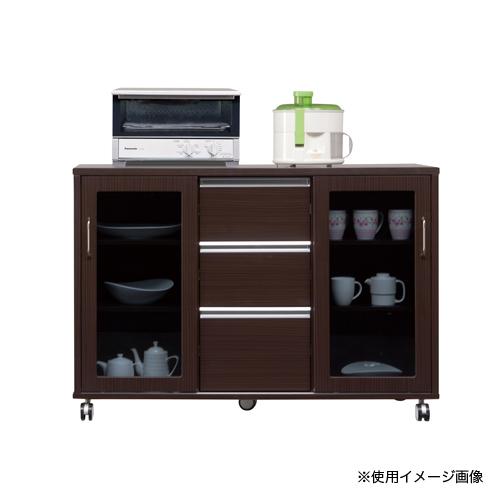 キッチンカウンター 両面 送料無料 幅120cm 両面キッチンカウンター キッチン収納 収納カウンター エイプル120両面カウンター APL-120KC 【着日指定不可】