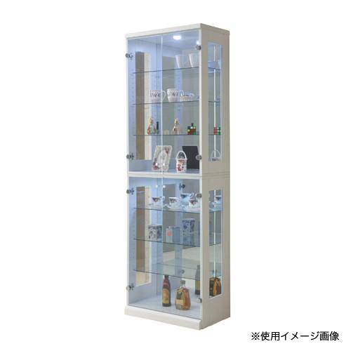 コレクションラック 送料無料 幅65×高さ200cm コレクションボード ガラス製収納 ディスプレイラック フェラード 65コレクション FERADO-65CR