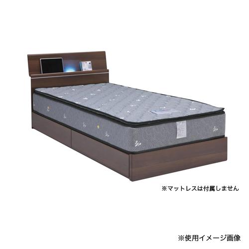 ベッドフレーム シングル 送料無料 ライト付きベッドフレーム 棚付きベッド 木製フレーム 収納付き グレイス Sベッドフレーム GRACE-BHS 【着日指定不可】