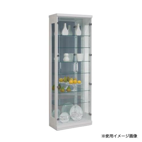 コレクションラック 送料無料 コレクションボード ディスプレイラック リビング収納 飾り棚 ガラス扉 ロング 60コレクション(H180)LONG-60CR