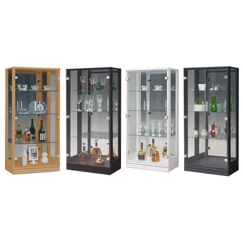 コレクションラック 送料無料 ショーケース ガラスキャビネット コレクションボード キッチンボード 食器棚 収納 ガラス キュート60コレクション CUTE-60CR