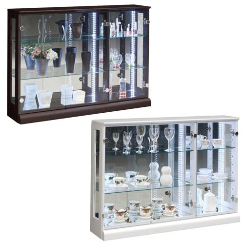 コレクションラック 送料無料 コレクションケース ガラス棚 食器棚 ガラスケース ショーケース 収納棚 飾り棚 ハスラー110コレクション HUSTLER-110CR LOOKIT オフィス家具 インテリア
