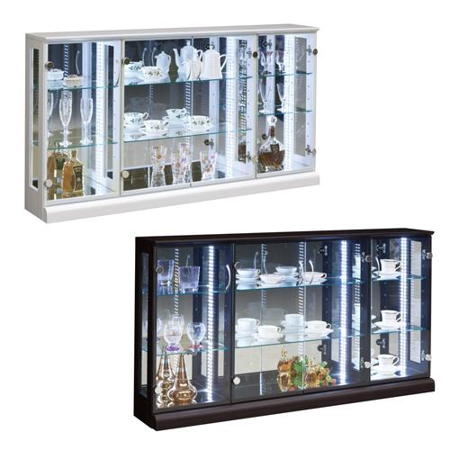 soldout コレクションラック ワイド 大型 照明付き LEDライト ショーケース ガラスケース ガラス棚 ハスラー150コレクション HUSTLER-150CR 【着日指定不可】