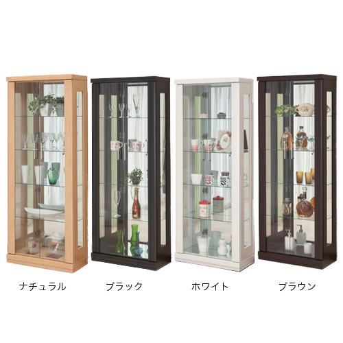 コレクションラック 送料無料 ミホーク 62コレクション 飾り棚 カップボード 食器棚 コレクションボード ガラス棚 MIHAWK-62CR 【着日指定】