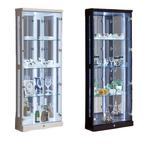 コレクションラック 送料無料 コーナー 食器棚 ガラスキャビネット 収納棚 ガラスケース ショーケース ガラス棚 プレオ60コーナーコレクション PLEO-60CCR