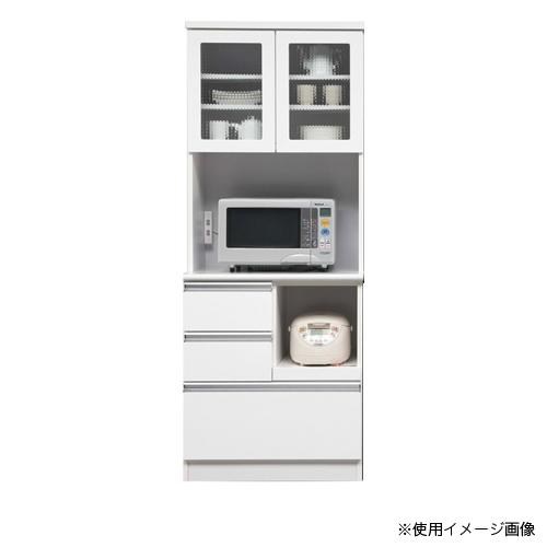 キッチンボード 送料無料 キッチン収納 食器棚 収納棚 レンジ台 ガラスボード カウンター シンプル カップボード 日本製 国産 プール 70OP食器 POOL-70OP