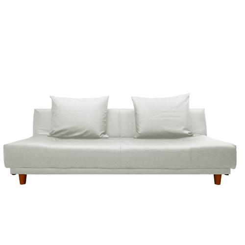 ソファベッド 合成皮革 リクライニングベッド クッション付き 国産 フロアベッド ローソファ リビング 居間 ワイドロー