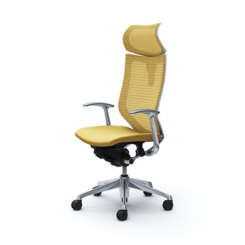 バロン チェア オカムラ オフィスチェア 岡村製作所 椅子 メッシュ パソコンチェア ハイバックチェア ヘッドレスト付き 肘付き CP41BW 送料無料