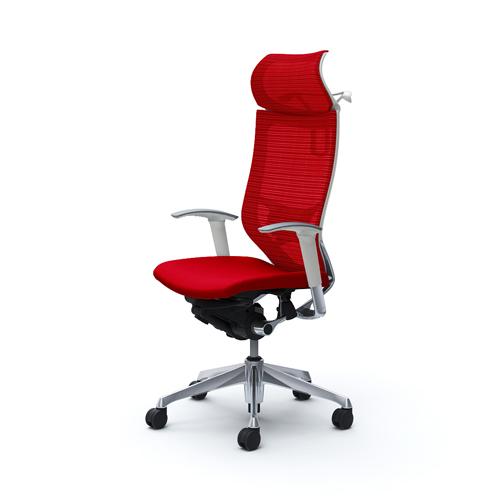 バロン チェア オカムラ オフィスチェア 岡村製作所 固定ヘッドレスト付きチェア オフィス家具 肘付きチェア メッシュチェア CP88BZ 送料無料