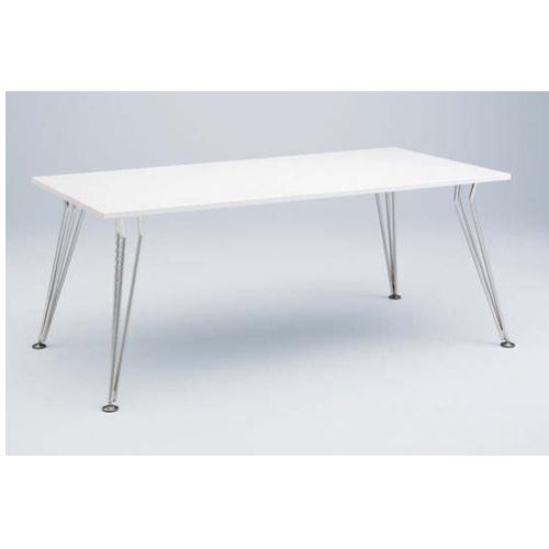 【5月11日20:00~18日1:59まで最大1万円OFFクーポン配布】ミーティングテーブル 幅180×奥行90cm 送料無料 ホワイト 会議テーブル オフィステーブル ミーティングルーム テーブル 打ち合わせスペース オフィス 4L52AC