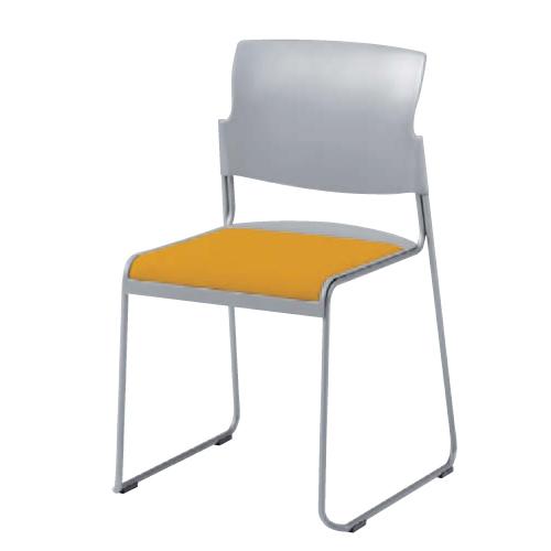 【最大1万円クーポン7/19 20時~7/26 2時まで】スタッキングチェア 送料無料 グレーシェルタイプ 布張り ミーティングチェア 会議室 セミナー オフィス家具 オフィスチェア 椅子 肘なし椅子 8118GZ-FS