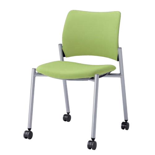 スタッキングチェア キャスター付き 布張り シンプル カラフル オフィスチェア デスクチェア ミーティングチェア パソコンチェア 椅子 イス 送料無料 8147BZ-F