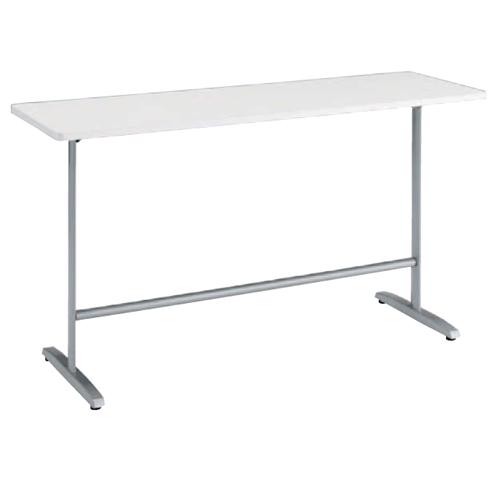カウンターテーブル 幅150×奥行60cm 送料無料 ホワイト オフィス家具 ハイテーブル ハイタイプ テーブル 机 飲食 食堂 事務所 オフィス 施設 8177CN-MG99