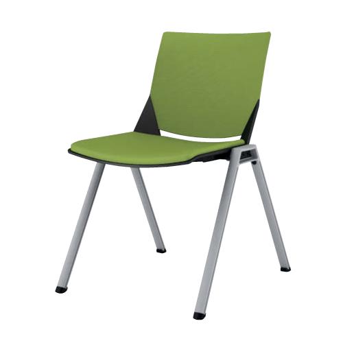 【全品P5倍6/10 13時~17時&最大1万円クーポン6/11 2時まで】スタッキングチェア 送料無料 シンプル 布製 ファブリック オフィスチェア デスクチェア ミーティングチェア パソコンチェア 椅子 イス カラフル 81J1AZ-FFW