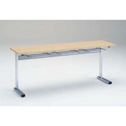 食堂テーブル 3人用 幅180×奥行45cm 送料無料 ハンガー付き イス掛け付きテーブル ランチテーブル ダイニングテーブル ミーティングテーブル 9312AC-MP