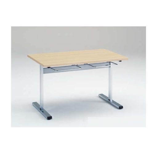 食堂テーブル 4人用 幅120×奥行75cm 送料無料 イス掛け付きテーブル ダイニングテーブル ミーティングテーブル オフィス家具 福祉施設 教育施設 9312AE-MP