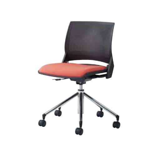 ミーティングチェア キャスター付き 送料無料 シンプル カラフル 5本脚 昇降式 上下調節 オフィスチェア デスクチェア パソコンチェア 椅子 イス 9317IR-F