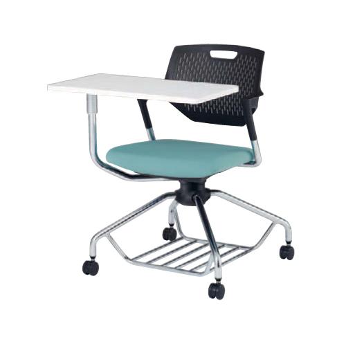 【全品P5倍6/10 13時~17時&最大1万円クーポン6/11 2時まで】ミーティングチェア 肘付き キャスター付き 送料無料 回転椅子 テーブル付き 収納付き 棚付き タブレット付き メモ台付き オフィスチェア シンプル 9319EF-F