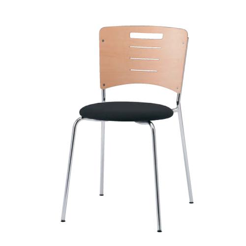 スタッキングチェア 送料無料 布張りタイプ 丸型座面 オフィスチェア ミーティングスペース ミーティングチェア オフィス家具 チェア 椅子 9372BZ-F