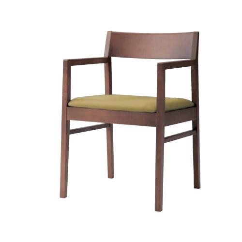 ダイニングチェア 肘付き 送料無料 布張り ネオウッドディープ 4本脚 チェア 椅子 ミーティングチェア オフィス家具 打ち合わせスペース 休憩スペース 9375WA-F