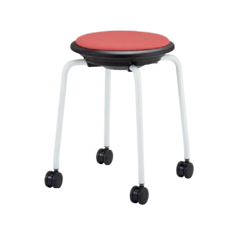 スツール キャスター付き 送料無料 布張り ホワイト脚 丸椅子 回転スツール オフィス家具 オフィスチェア 医療施設 93J1DF-F