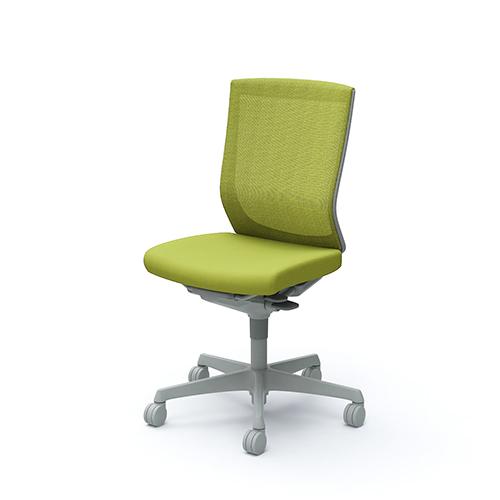 エスクード チェア オカムラ 送料無料 肘なしチェア 布張りチェア オフィスチェア デスクチェア ミーティングチェア オフィス家具 C437GR-FHB