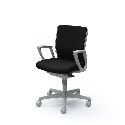 エスクード チェア オカムラ 送料無料 布張りチェア ローバックチェア オフィスチェア オフィス家具 デスクチェア キャスター付きチェア C443GR-FFW